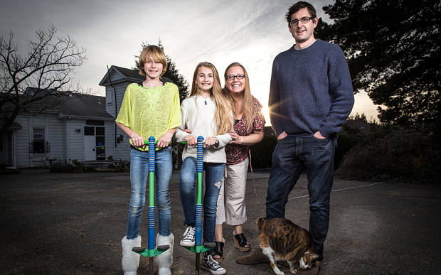 Louis Theroux (right) explores the lives of transgender children, such as Cole (left) for a BBC documentary Transgender Kids  Photo: BBC